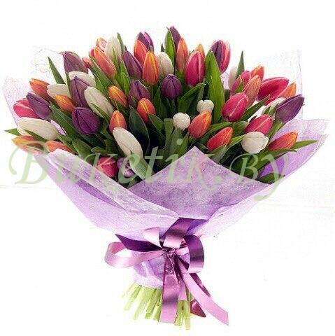 Букет из тюльпанов микс (25,51 или 75 шт)