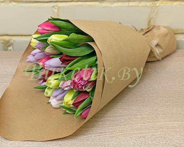 Тюльпаны в крафте