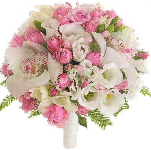 Свадебный букет с орхидеями