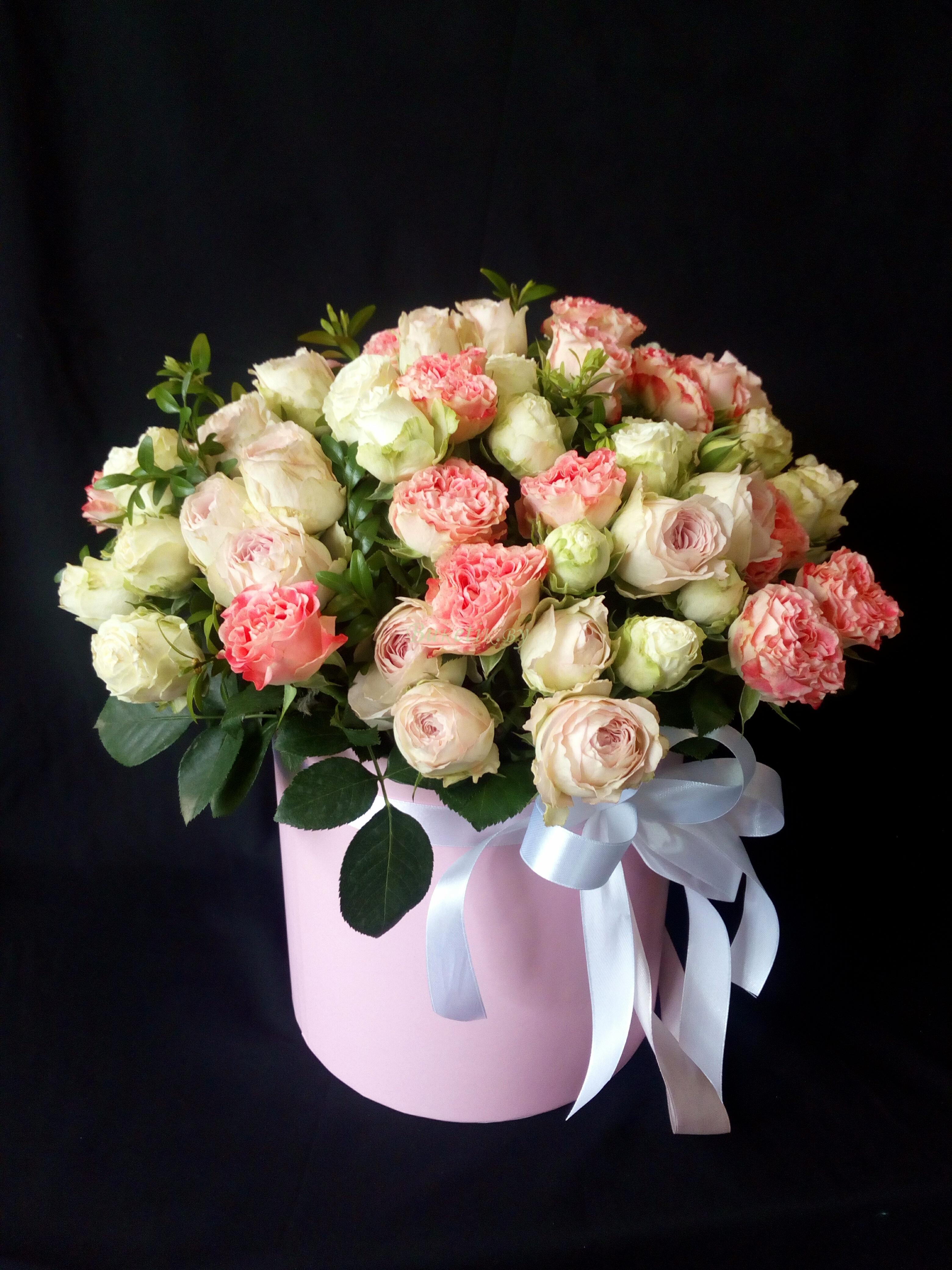Коробка из кустовой розы