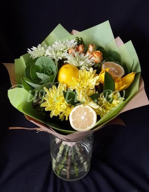 Фруктовый букет с лимоном
