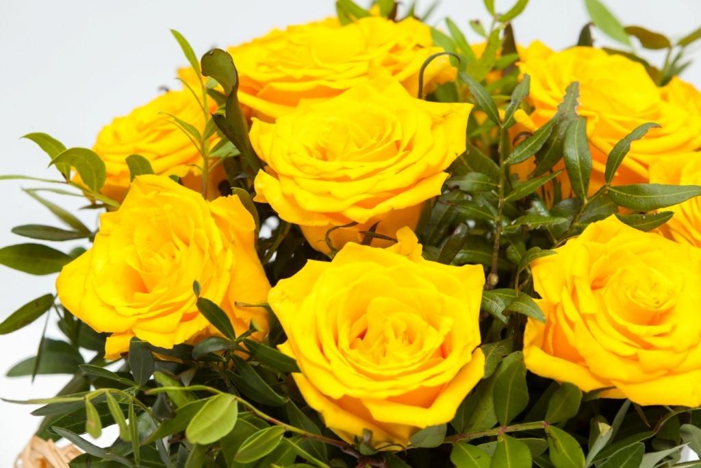 Цветочная коробка из роз