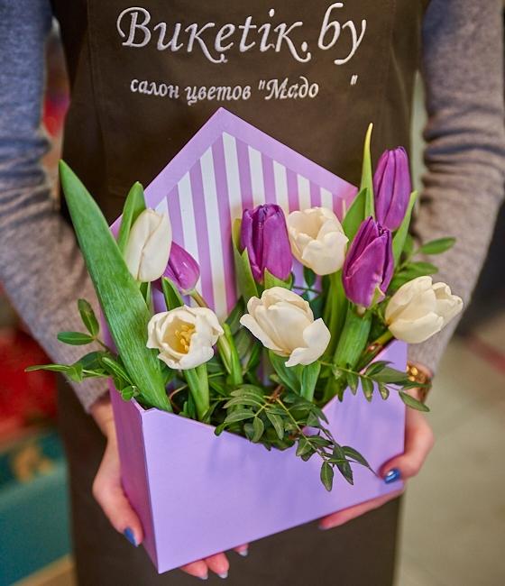 Цветочная композиция Тюльпаны в конверте